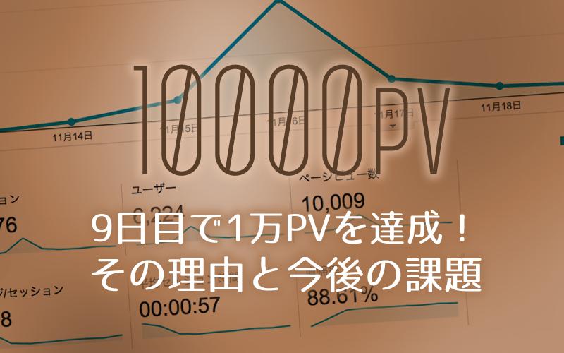 1万PV達成