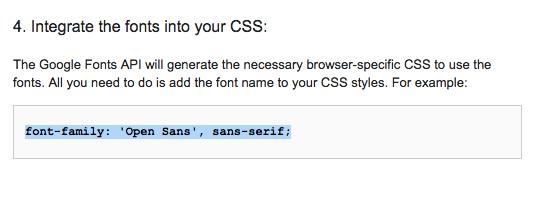 適用させたいものにスタイルを記述Google_Fonts